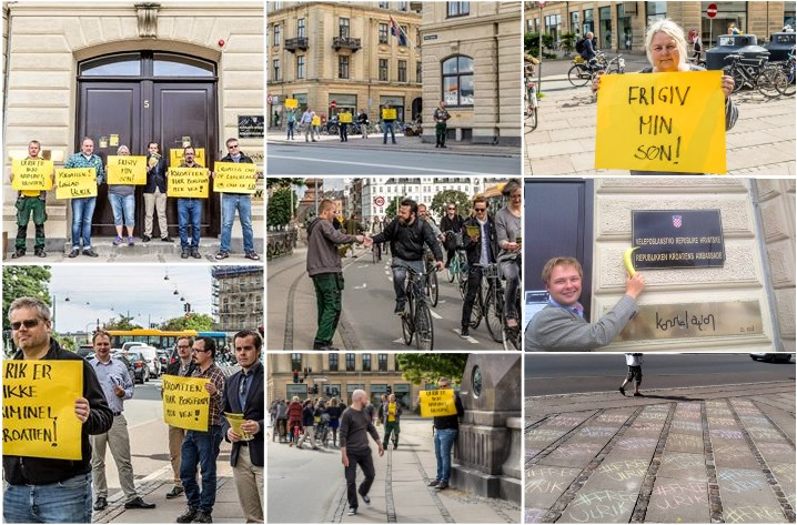 The arrest and imprisonment of Danish Ulrik Haagensen, triggered a week of continued protests in in front of the Croatian embassy Copenhagen and elsewhere