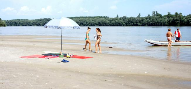 People enjoying Liberland's Beach