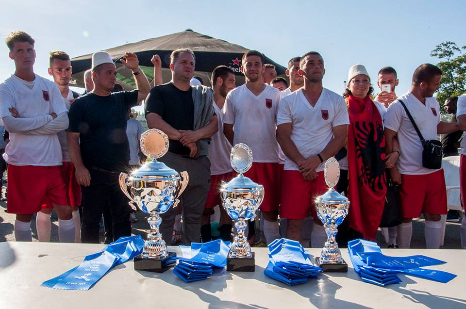 Trophies from the UNPO World Cup