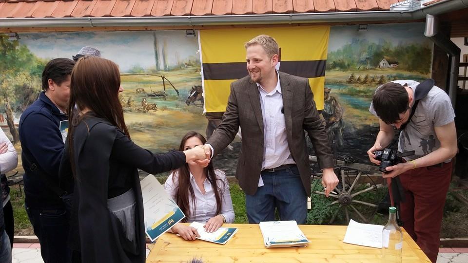 Liberland President Granting Citizenship