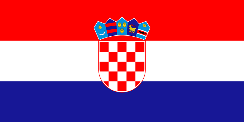 Croatian Flag (courtesy wikicommons)