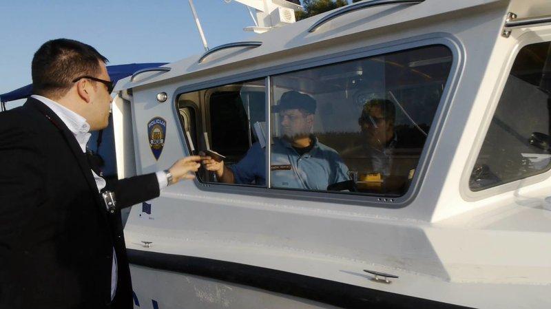MEP Tomáš Zdechovský handing Croatian Police Diplomatic Passport
