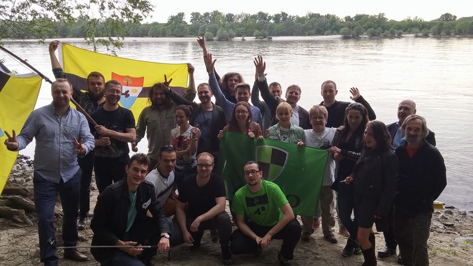 Liberland supporters visiting Liberland after attending the Liberland Conference in Croatia - April 2016
